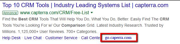 Google adwords branded url shortener link